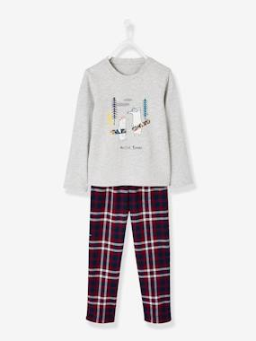 Vertbaudet Collection-Boys-Flannel Pyjamas for Boys