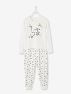 Girls-Nightwear-Cotton Jersey Knit Pyjamas for Girls