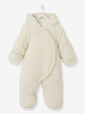 Baby-Padded Pramsuit, Plush Look, for Babies