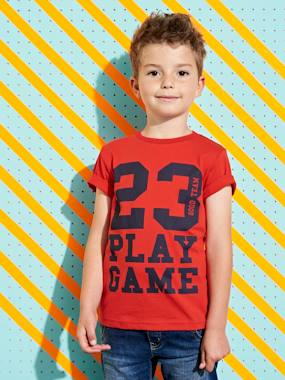 haut-T-Shirt with Inscription, for Boys
