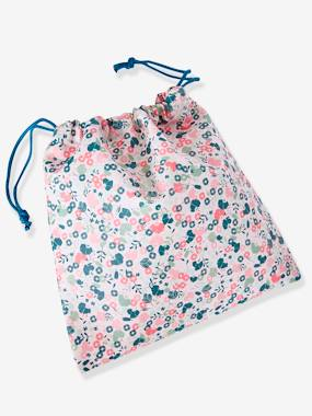 Girls-Accessories-School Supplies-Snack Bag with Flowers Motif for Girls