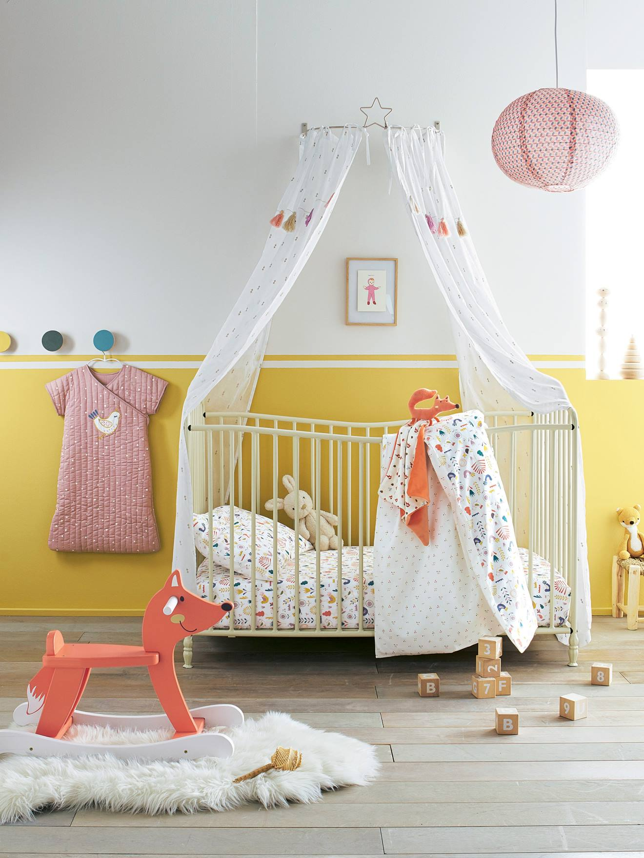 Interiors Ciel De Lit canopy cradle - grey, bedding & decor