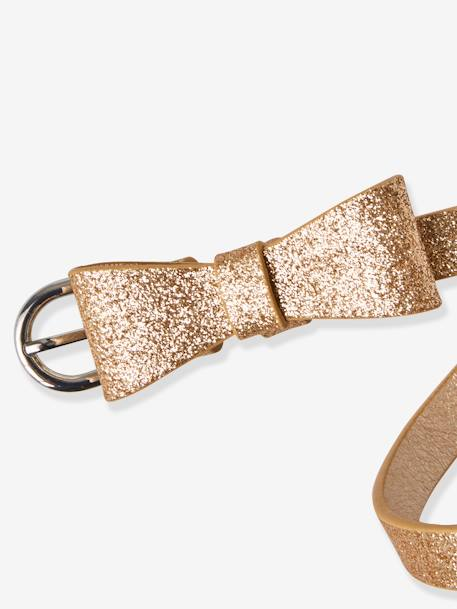 Belt with Glitter and Fancy Bow, for Girls YELLOW BRIGHT METALLIZED - vertbaudet enfant