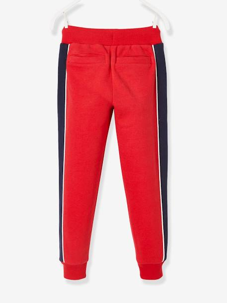Joggers with Panels on the Sides, for Boys BLUE DARK SOLID WITH DESIGN+GREY DARK MIXED COLOR+GREY LIGHT MIXED COLOR+RED DARK SOLID WITH DESIGN - vertbaudet enfant