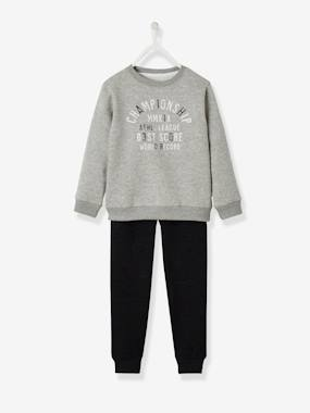 Boys-Trousers-Sports Combo: Sweatshirt & Joggers, for Boys