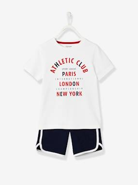 Boys-Sportswear-Sports combo: T-shirt + Bermuda Shorts, for Boys
