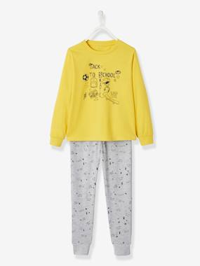 Vertbaudet Collection-Boys-Cotton Pyjamas for Boys, Back to School
