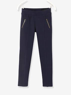 Vertbaudet Collection-Girls-Trousers-Girls' Treggings in Milano Knit