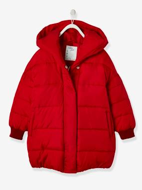 Schoolwear-Girls-Long Jacket with Hood, for Girls