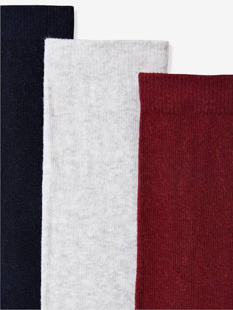 Girl's Pack of 3 Pairs of Jersey Knit Fabric Tights BLUE DARK TWO COLOR/MULTICOL+BLUE LIGHT TWO COLOR/MULTICOL+BROWN DARK 2 COLOR/MULTICOL+GREY MEDIUM MIXED COLOR+PINK DARK 2 COLOR/MULTICOL OR+PINK LIGHT 2 COLOR/MULTICOL R+PINK MEDIUM 2 COLOR/MULTICOL+YELLOW DARK 2 COLOR/MULTICOL - vertbaudet enfant