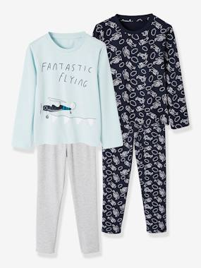 Vertbaudet Basics-2 Sets of Pyjamas for Boys, in Cotton