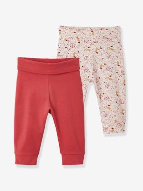 Vertbaudet Basics-Baby-Pack of 2 Pairs of Leggings for Newborns