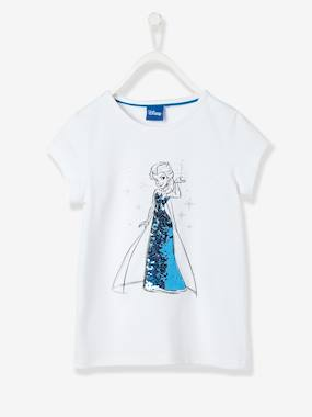 Girls-Tops-T-Shirts-Girls' T-Shirt with Reversible Sequins, Frozen® Theme