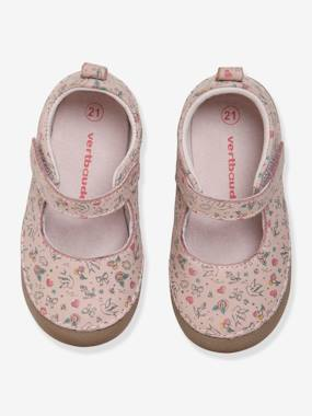 Shoes-Baby Footwear-Slippers & Booties-Soft Mary Jane Leather Shoes for Baby Girls