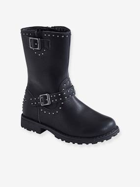 Shoes-Biker-Style Boots, for Girls