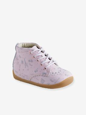 Mid season sale-Shoes-Leather Ankle Boots for Baby Girls, Designed for First Steps