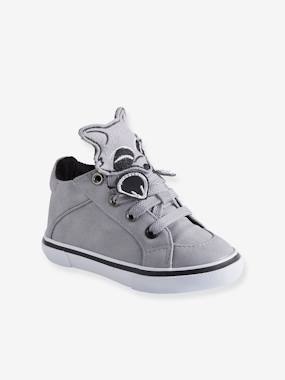 Shoes-Baby Footwear-Baby Boy Walking-High Top Trainers with Laces, for Baby Boys