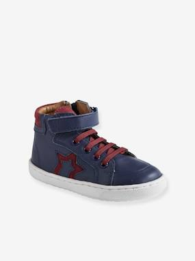 Mid season sale-Shoes-Leather High Top Trainers, for Boys