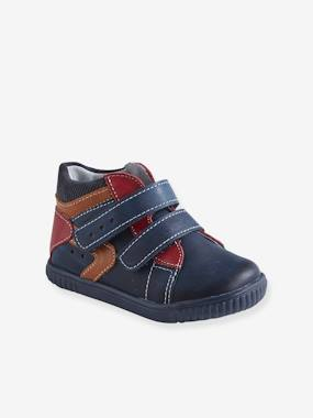 Shoes-Baby Footwear-Baby Boy Walking-Leather Boots with Touch Fasteners, for Baby Boys