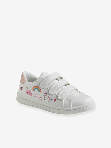 Trainers with Touch Fasteners, for Girls - white light solid, Shoes