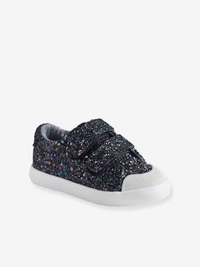 Shoes-Baby Footwear-Baby Girl Walking-Glittery Touch-Fastening Trainers for Baby Girls