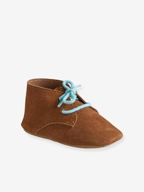 Vertbaudet Collection-Shoes-Soft Leather Pram Shoes for Baby Boys