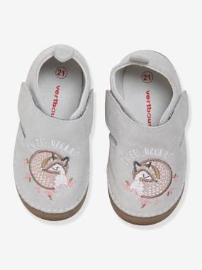 Schoolwear-Shoes-Shoes in Supple Leather, for Baby Girls