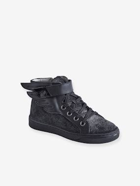 Schoolwear-Shoes-Leather High Top Trainers, for Girls