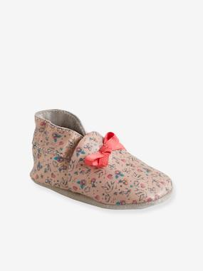 Vertbaudet Collection-Shoes-Soft Leather Pram Shoes for Baby Girls