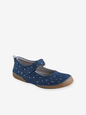 Vertbaudet Collection-Shoes-Touch-Fastening Leather Shoes for Girls