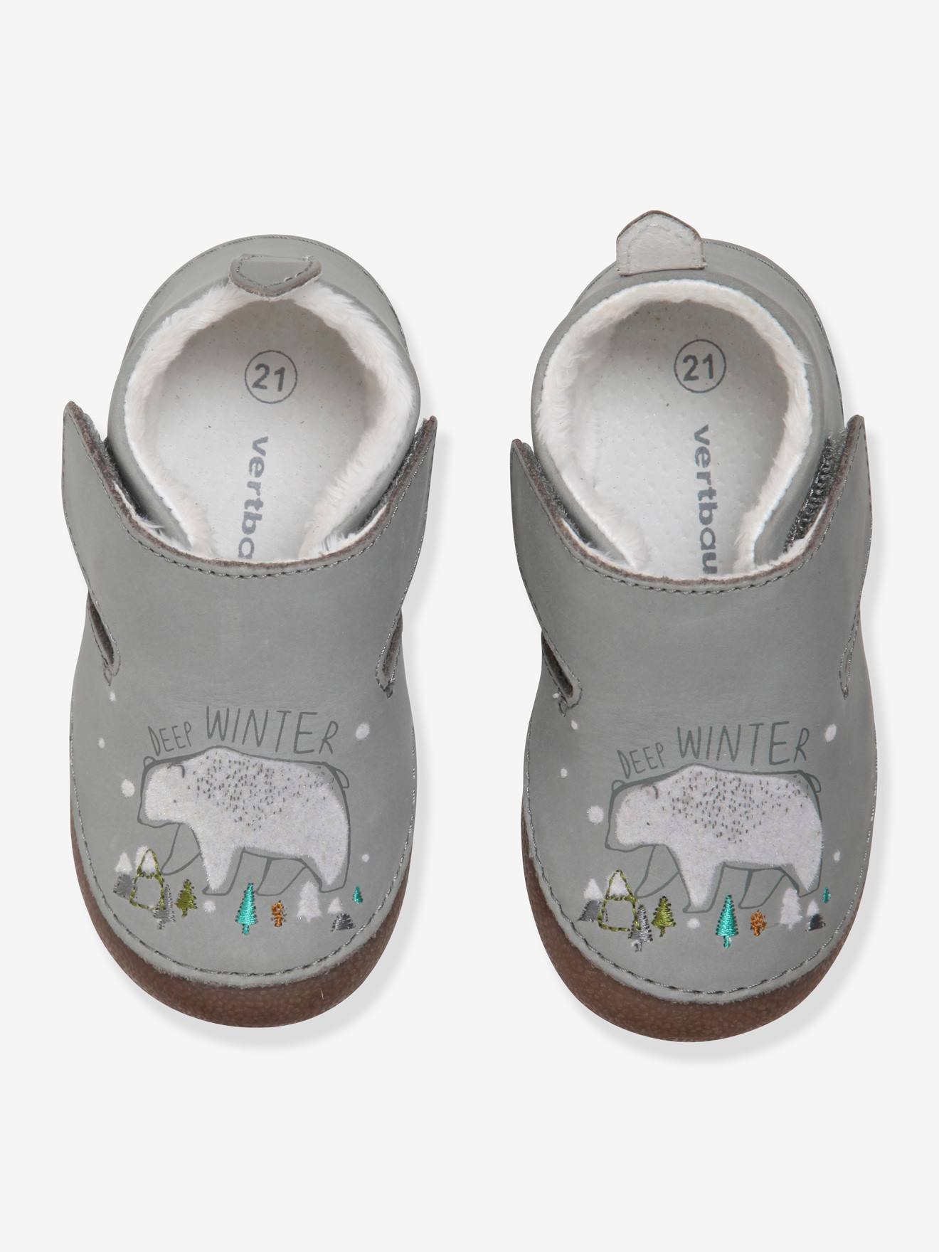 Soft Leather Slippers for Baby Boys