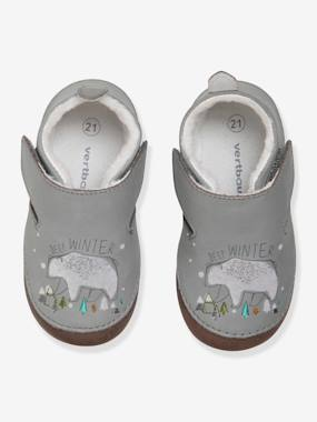 Shoes-Baby Footwear-Slippers & Booties-Soft Leather Slippers for Baby Boys