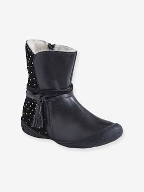 Shoes-Girls Footwear-Boots-Leather Boots, Fur Lining, for Girls, Designed for Autonomy