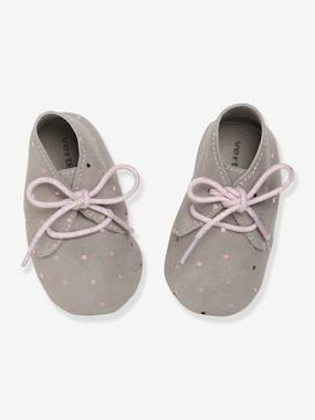 Shoes-Baby Footwear-Slippers & Booties-Soft Leather Pram Shoes for Baby Girls