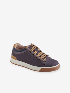 Shoes-Boys Footwear-Leather Trainers with Laces, for Boys