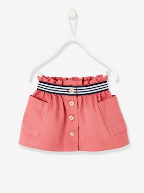 Vertbaudet Collection-Baby-Dresses & Skirts-Skirt in Stretch Twill, for Girls