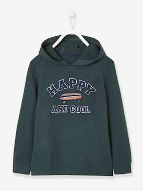 Boys-Tops-T-Shirts-Hoodie with Graphic Motif for Boys