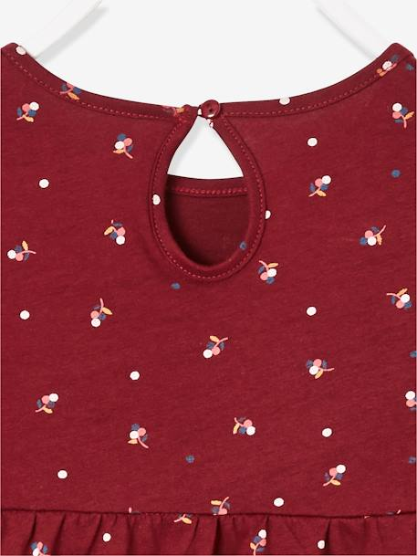 Blouse for Girls BLUE DARK ALL OVER PRINTED+BROWN DARK ALL OVER PRINTED+PINK LIGHT ALL OVER PRINTED - vertbaudet enfant