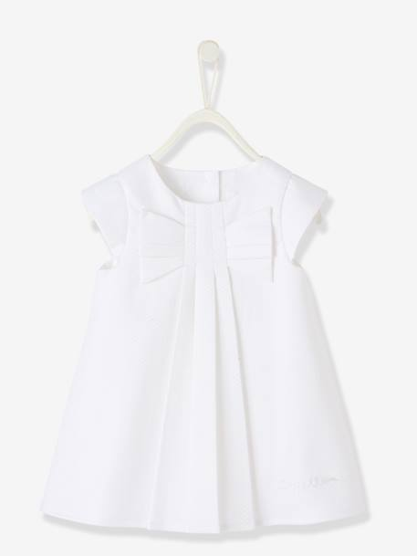 Baby Girls Short-Sleeved Dress White - vertbaudet enfant