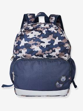 Boys-Accessories-School Supplies-Backpack with Camouflage Motif, for Boys