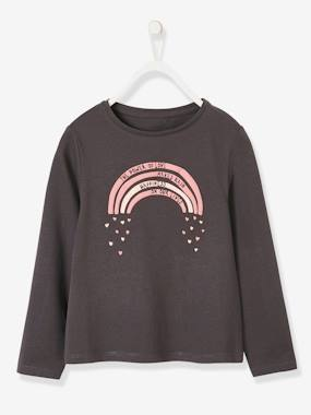Vertbaudet Collection-Girls-Tops-Top with Fun Motif, for Girls
