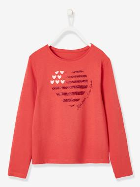 Vertbaudet Basics-Girls-Top with Fun Motif, for Girls