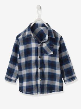 Baby-Blouses & Shirts-Checked Shirt, for Baby Boys