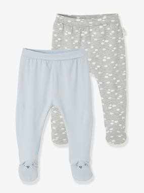Baby-Trousers & Jeans-Soft Jersey Knit Trousers for Newborn Babies