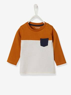 Baby-T-shirts & Roll Neck T-Shirts-Three-Tone Top for Baby Boys