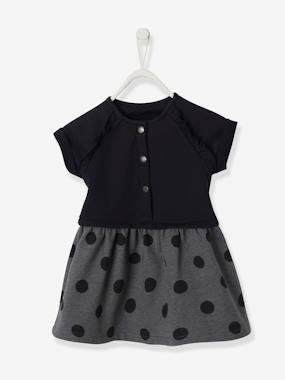 Vertbaudet Collection-Baby-Dresses & Skirts-Fleece Dress for Baby Girls
