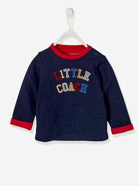 Baby-T-shirts & Roll Neck T-Shirts-Double-Sided Jersey Knit Top, for Baby Boys