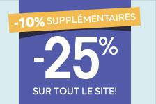 Mariages & Fêtes 10% supplémentaires + 25% sur tout le site!