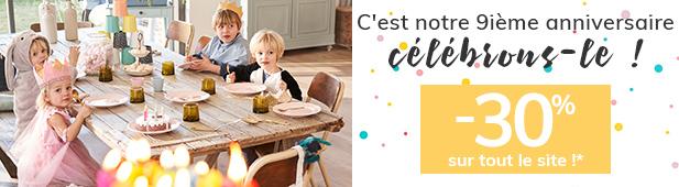 C'est notre 9ième anniversaire célébrons-le ! > -30% sur tout le site!*