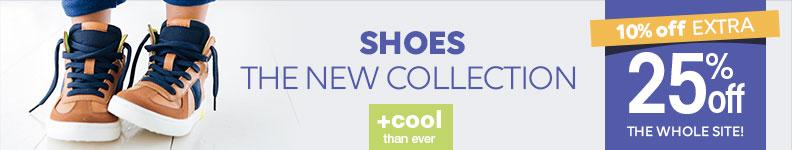 Chaussures 10% supplémentaires + 25% sur tout le site!